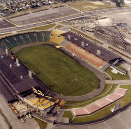 Aerial view of Empire Stadium