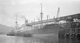 "[S.S. ""San Francisco"" - German ship at dock]"