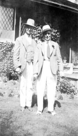 [L.D. Taylor and unidentified man]