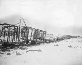 [Train destroyed by shell fire on the Western Front]