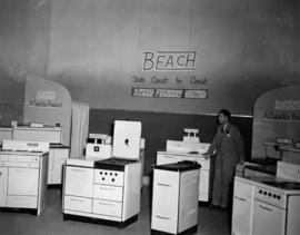 Beach display of household appliances
