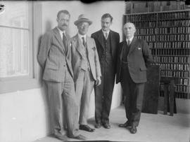 [L.D. Taylor with sons Ted and Ken and George J. Fowler at the L.A. Express office]