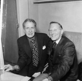 Vincent Price and Hugh Pickett