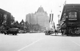 [View of Burrard Street looking south from West Pender Street]