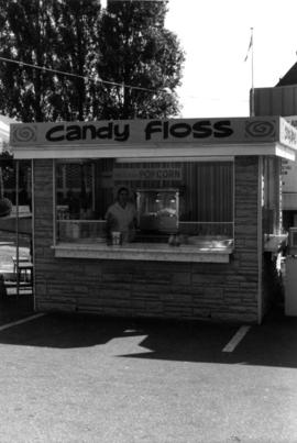 Candy floss stand on P.N.E. grounds