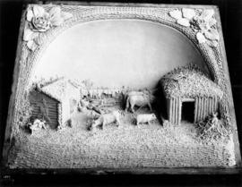 Central Creameries butter carving of a pioneer farm
