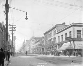 Hastings St. [at Homer Street, looking west]