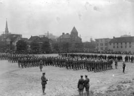 29th military [troops at Cambie Street grounds]
