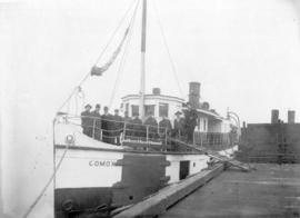 "[Union S.S. ""Comox"" at wharf]"