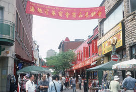 Sidewalk sale in Montreal Chinatown