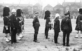 [72nd Regiment, Seaforth Highlanders of Canada at first annual inspection on the Cambie Street Gr...