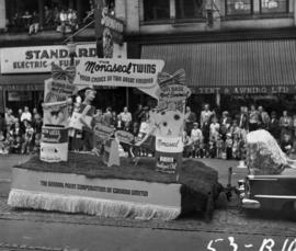 The General Paint Corporation of Canada float advertising Monaseal products in 1953 P.N.E. Openin...