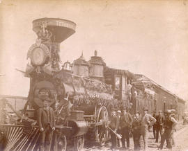 Engine [374] of First [C.P.R. Passenger] Train [to arrive in Vancouver]