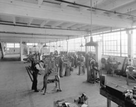 Boeing Aircraft Co. of Canada, flying boat construction, machine shop