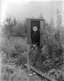 [Time clock used by motorman to report to Control Office from the end of a remote streetcar line]