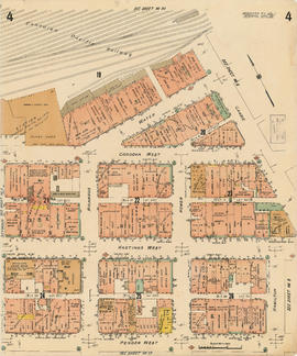 Plate 4 [Hamilton & Cambie Streets to CP Railway yards to Seymour Street to Pender Street]