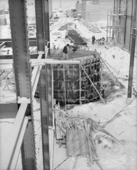 Looking north from 03 column line at Dorr Tank foundation