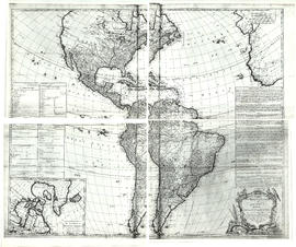 A map of the whole continent of America divided into North and South and West Indies