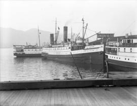"[Union Steamships ""Camosun"" and ""Chelohsin"" at dock]"