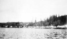 [View of Alert Bay from the water]