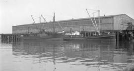 S.S. Teco [and]  S.S. Chilliwack [at Balfour-Guthrie dock]