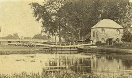 [Unidentified lake and lock]