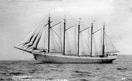 """Mabel Brown"" First Auxiliary Schooner Launched in B.C."