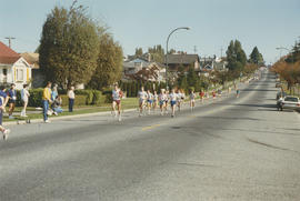 Arts 20 Relay Race runners on residential street