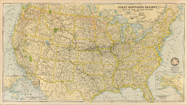 Great Northern Railway. Map of the United States