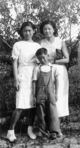[Winnifred Eng and children]