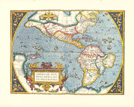 Americae sive novi orbis, no va descriptio : [the new world, commonly called America]