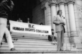 Rally at B.C. Legislature to protest new human rights legislation