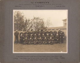 """G"" Company Sixth Regiment, Duke of Connaught's Own Rifles. Field Day. April 23, 1904."