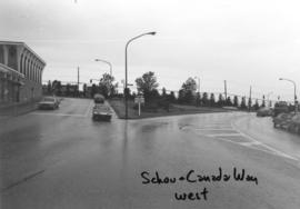 Schou [Street] and Canada Way [looking] west
