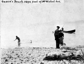 [Greer's Beach (Kitsilano Beach) at the foot of McNicoll Avenue]
