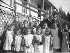 [The students and teacher of the Native girl's school]