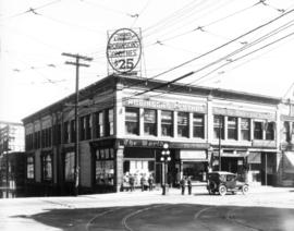Robinson's clothes shop, 441 Hastings Street West at Richards