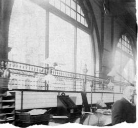 [Office interior of the Bank of British Columbia, corner of Hastings and Richards Streets]