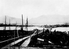 [View of] Vancouver from M[oun]t Pleasant, 1890