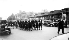 Military funeral on Howe Street