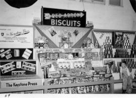 Red Arrow Biscuits and Keystone Press stationery displays