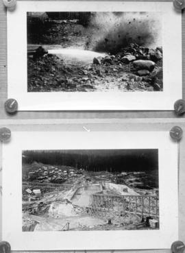 [Two views of Coquitlam Dam construction]