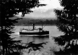 "[S.S. ""Chelohsin"" entering Harbour as viewed from Stanley Park]"