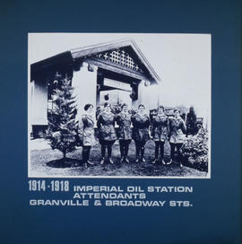 Imperial Oil station attendants, Granville and Broadway Streets