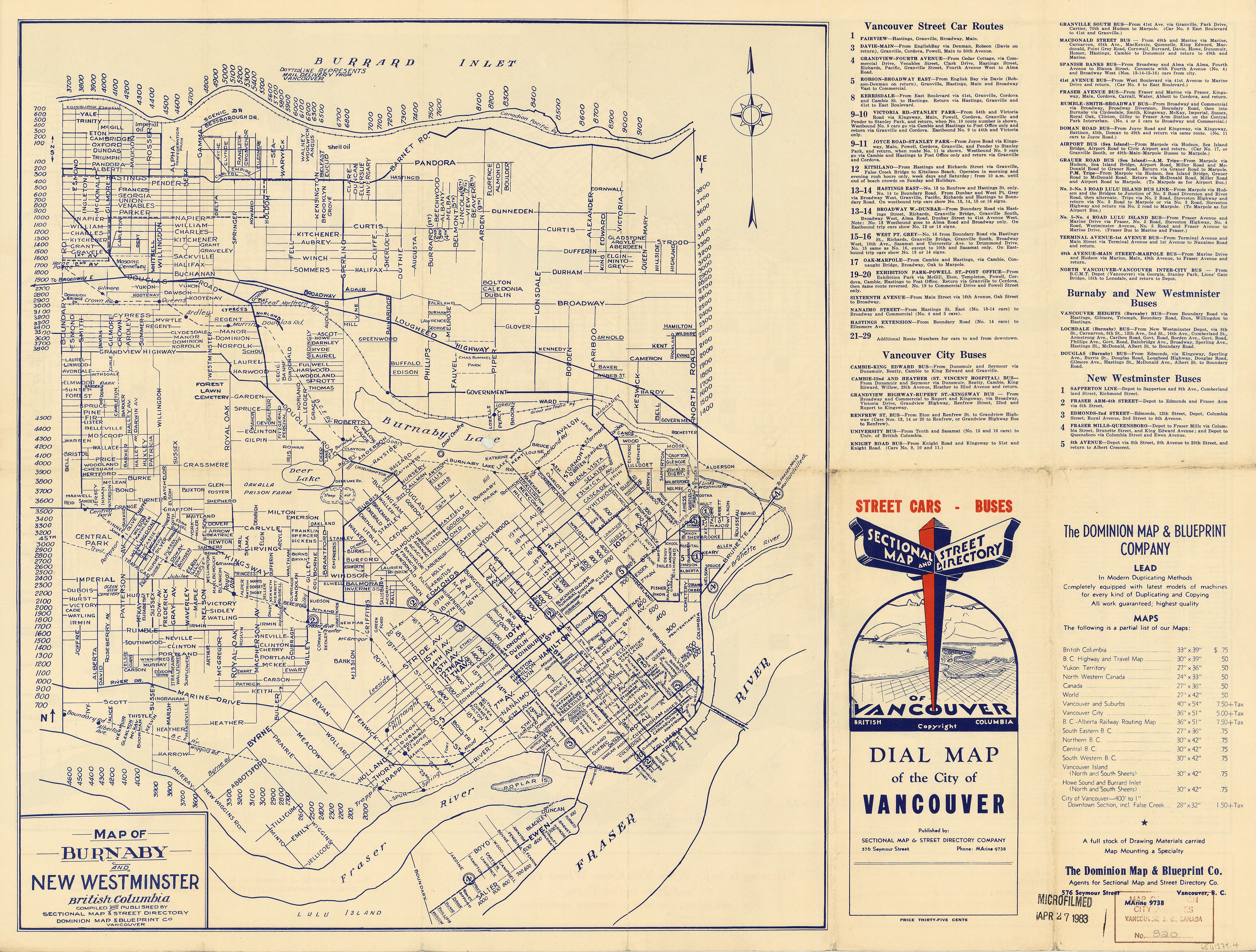 Map of burnaby and new westminster british columbia city of open original digital object malvernweather Choice Image