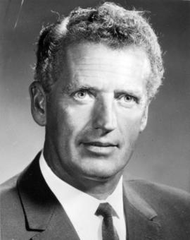 Fred G. Russel, 1970 president of Real Estate Board of Greater Vancouver, of Frederick E. Russel ...