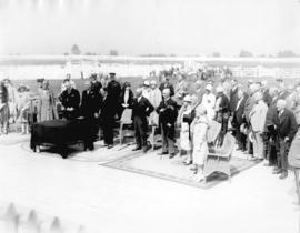 [Ceremony at Lansdowne Park]