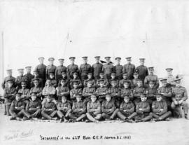 """Sergeants of the 62nd Batt[alion] C.E.F. Vernon, B.C.)"