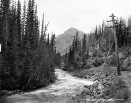 Kicking Horse River, near summit of Rockies