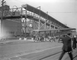 [Pedestrian overpass to Union Steamship Company dock]